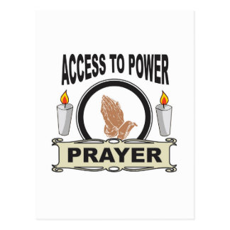 prayer the access to power postcard