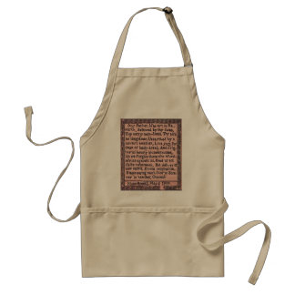 Prayer the Brontës'  Father Taught Us - Apron