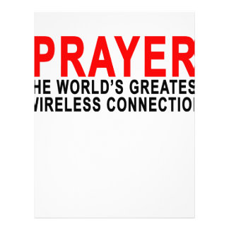 PRAYER THE WORLD'S GREATEST WIRELESS CONNECTION.pn Personalized Letterhead