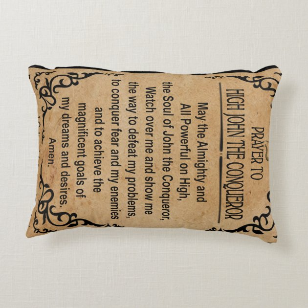 prayer to high john the conqueror art pillow