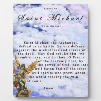 Prayer to Saint Michael the Archangel Plaque