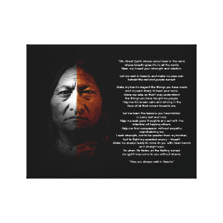 "Prayer to the Great Spirit, ""Sitting Bull"" quote Canvas Print"