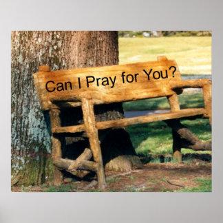 prayer tree bench poster
