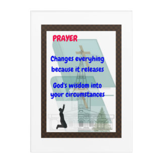 Prayer wall decals, serenity prayers acrylic print