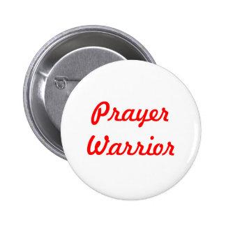 Prayer Warrior 2 Inch Round Button
