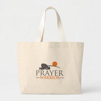 Prayer Warrior Large Tote Bag