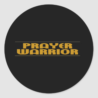 Prayer Warrior Products Classic Round Sticker