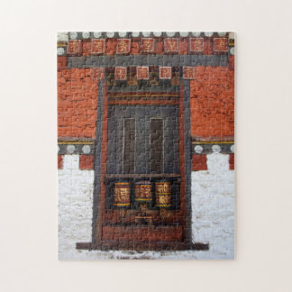 Prayer Wheels At Temple Jigsaw Puzzle