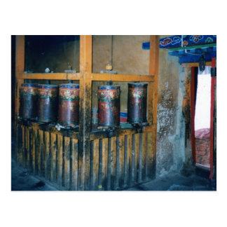 Prayer wheels postcard