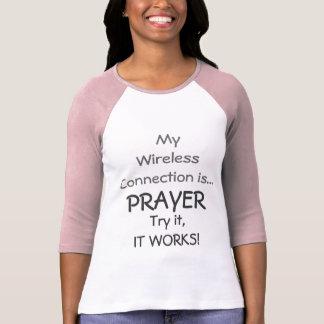 Prayer Wireless Connection Ladies Raglan Sleeve T-Shirt