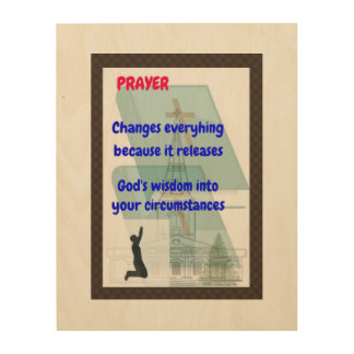 Prayer wood wall art, serenity prayer wood print