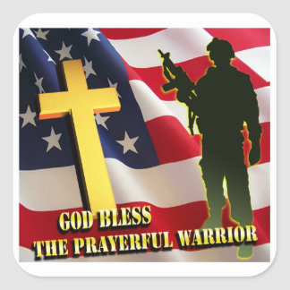 Prayerful Warrior Square Sticker
