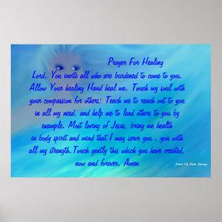 PRAYERS FOR HEALING   BEAUTIFUL POST POSTER