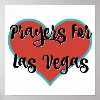 Prayers For Las Vegas Tribute T-Shirt Poster