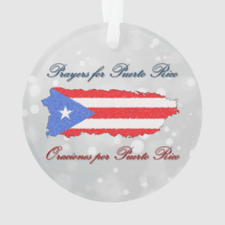 Prayers for Puerto Rico Ornament