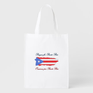 Prayers for Puerto Rico Reusable Grocery Bag