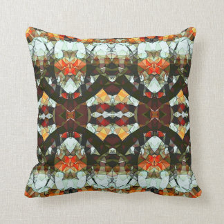 Prayers To Heaven Orange and Brown Throw Pillow