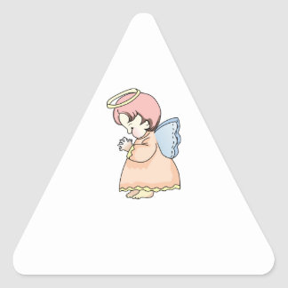 PRAYING ANGEL TRIANGLE STICKER