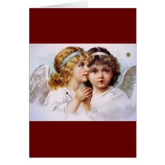 Praying angels children card