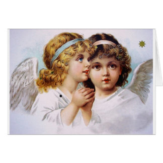Praying angels children card