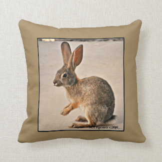 Praying Bunny Custom Throw Pillow