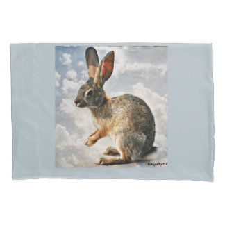 Praying Bunny in the Heavens Pillow Case