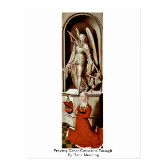 Praying Donor Catherine Tanagli By Hans Memling Postcard
