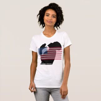 Praying for America Shirt with US Flag