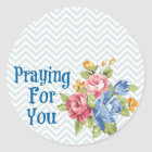 Praying For You Classic Round Sticker