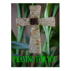 praying for you cross postcard