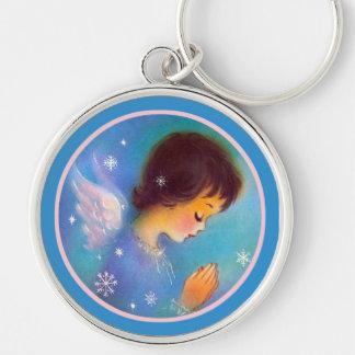 Praying Guardian Angel Keychain