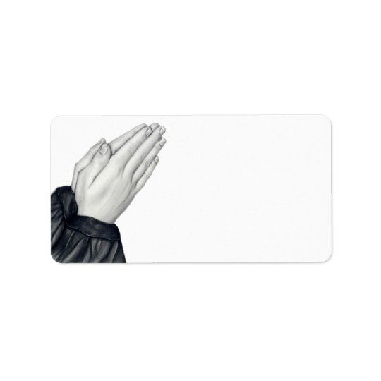 Praying Hands Address Labels