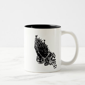 Praying hands and butterflies Mug