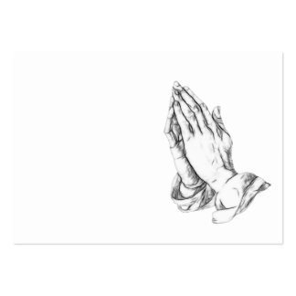 Praying hands pack of chubby business cards