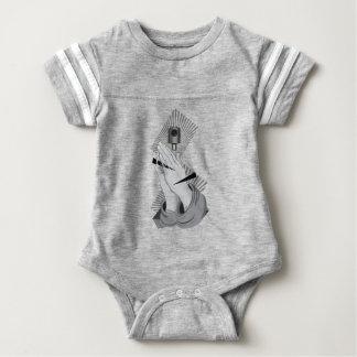 Praying Hands Graffiti Baby Bodysuit