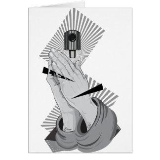 Praying Hands Graffiti Card