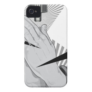 Praying Hands Graffiti Case-Mate iPhone 4 Cases