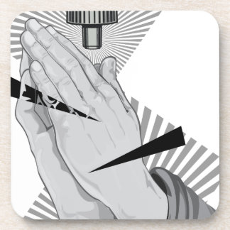 Praying Hands Graffiti Coaster
