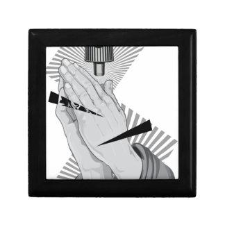 Praying Hands Graffiti Jewelry Box