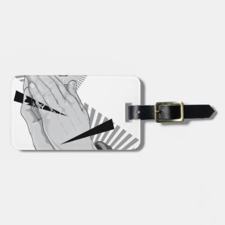 Praying Hands Graffiti Luggage Tag