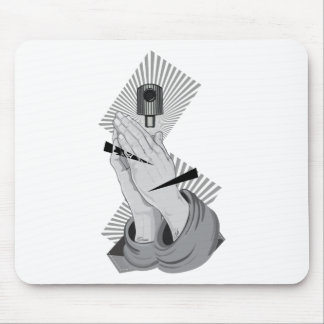 Praying Hands Graffiti Mouse Pad