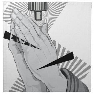 Praying Hands Graffiti Napkin