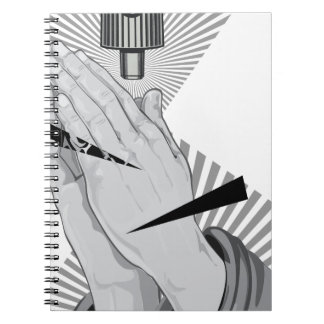 Praying Hands Graffiti Notebook