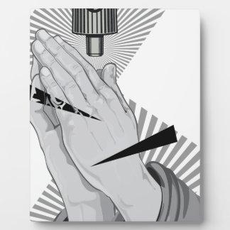 Praying Hands Graffiti Plaque