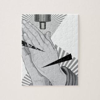 Praying Hands Graffiti Puzzle