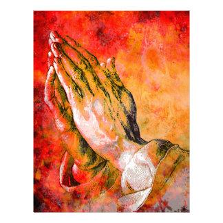 PRAYING HANDS LETTERHEAD DESIGN