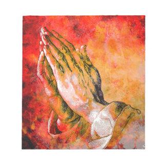 PRAYING HANDS NOTEPAD