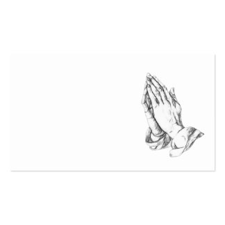 Praying hands pack of standard business cards