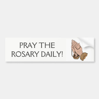 Praying Hands Rosary Bumper Sticker