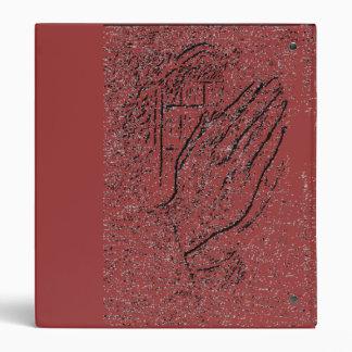 Praying Hands Rustic Binder